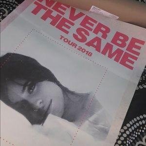 Camila Cabello Never Be The Same Tour poster